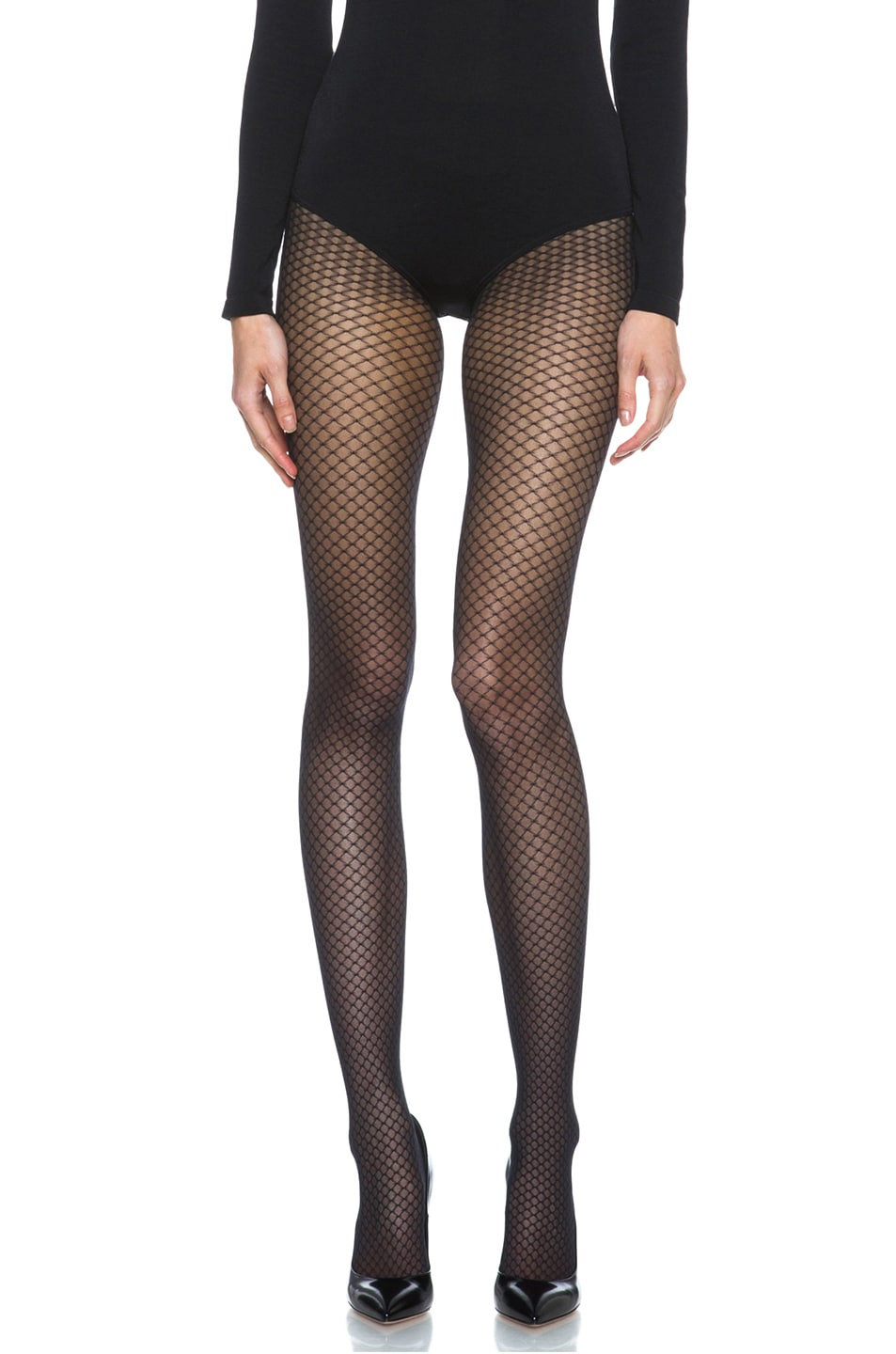 Image 4 of Wolford Iman Tights in Black
