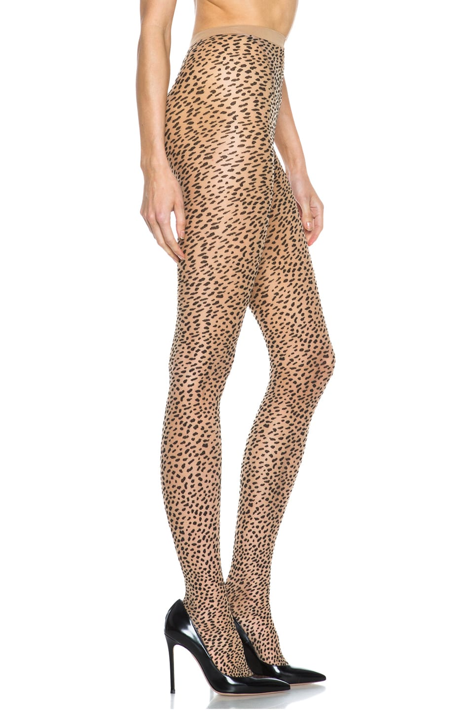 Image 5 of Wolford Baloo Nylon-Blend Tights in Sahara & Black