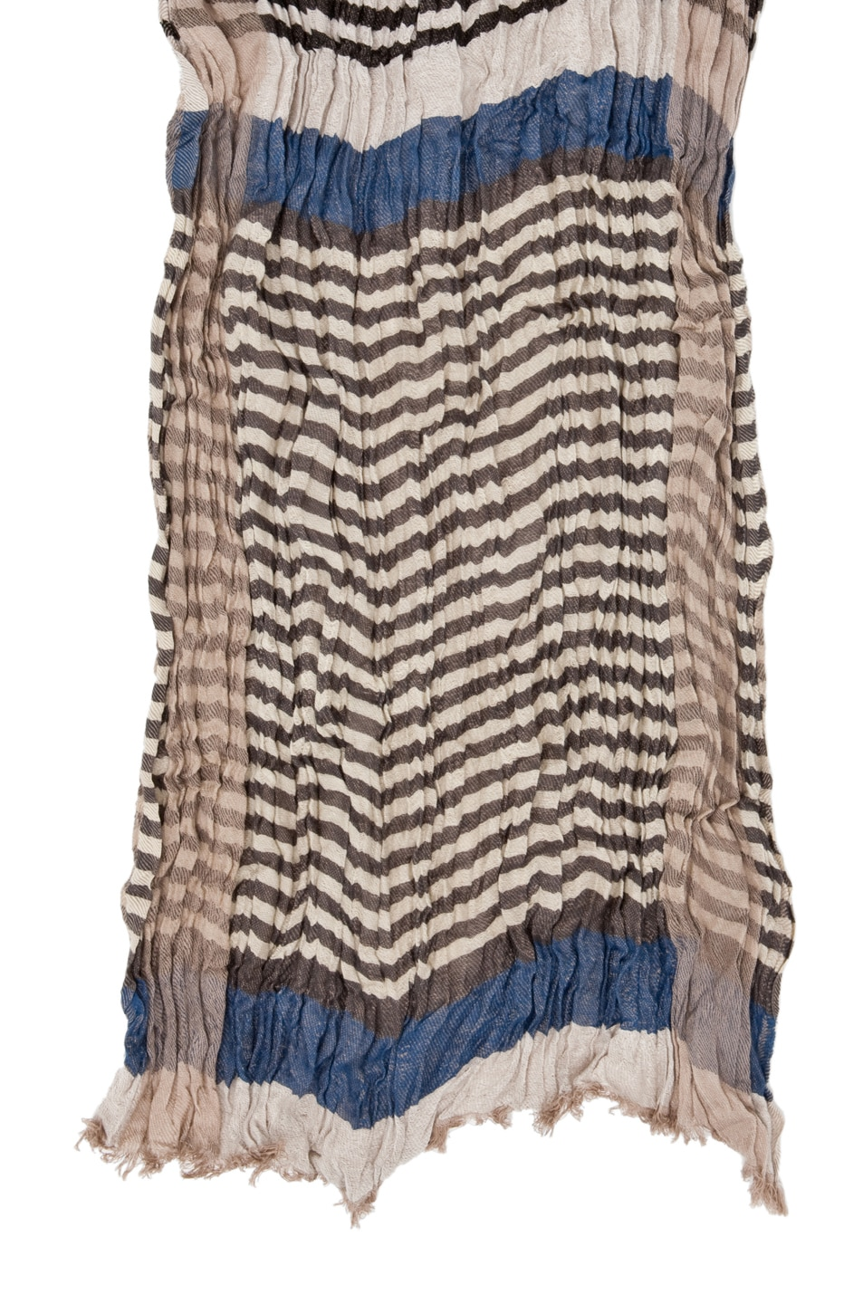Image 2 of Yigal Azrouel Striped Jacquard Cotton Scarf in Indigo Multi