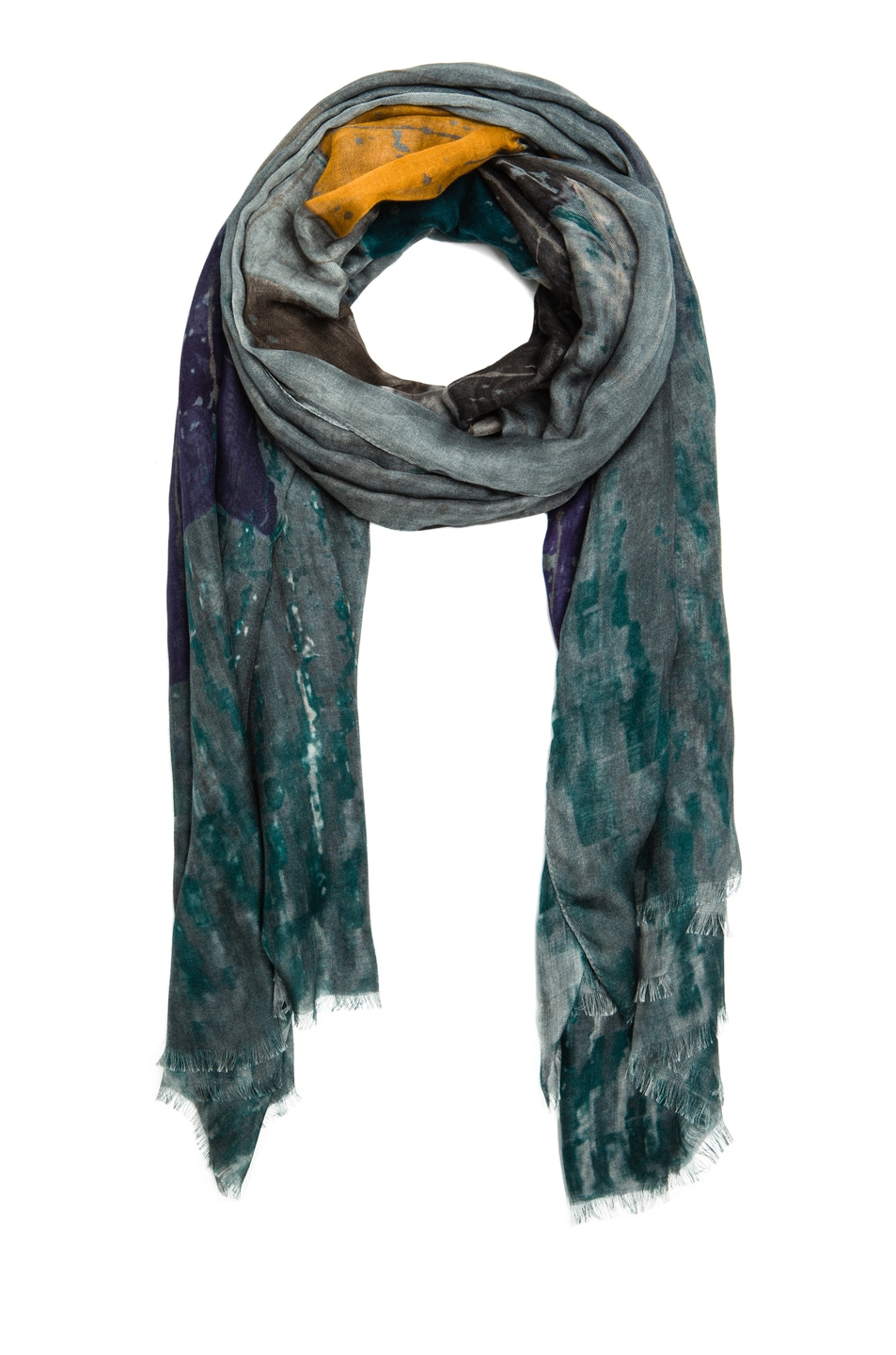 Image 2 of Yigal Azrouel Color Chips Cashmere & Modal Scarf in Diamond Multi