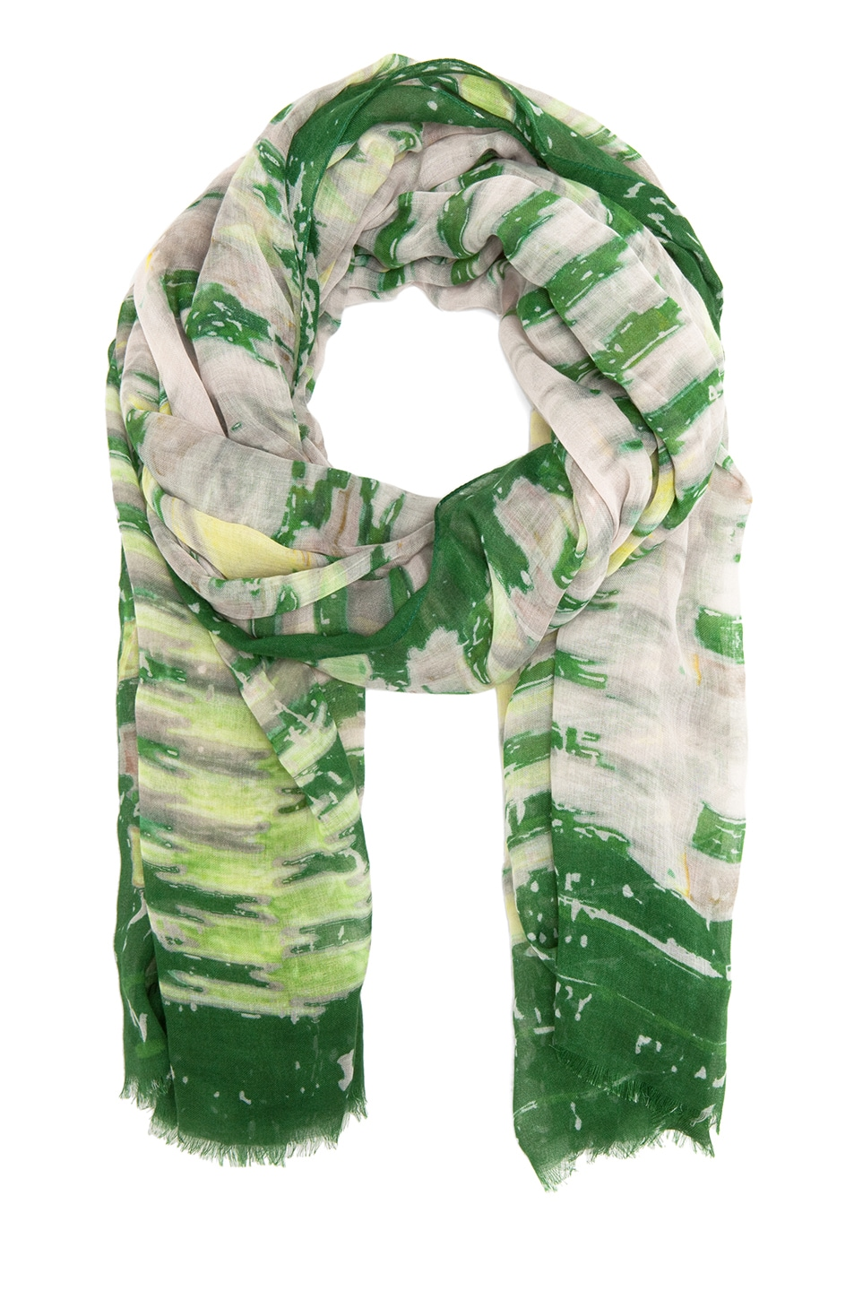 Image 2 of Yigal Azrouel Diamond Printed Scarf in Jungle