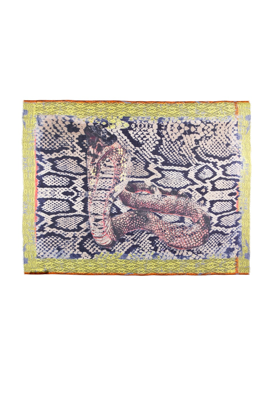 Image 1 of Yigal Azrouel Snake Printed Scarf in Night Multi