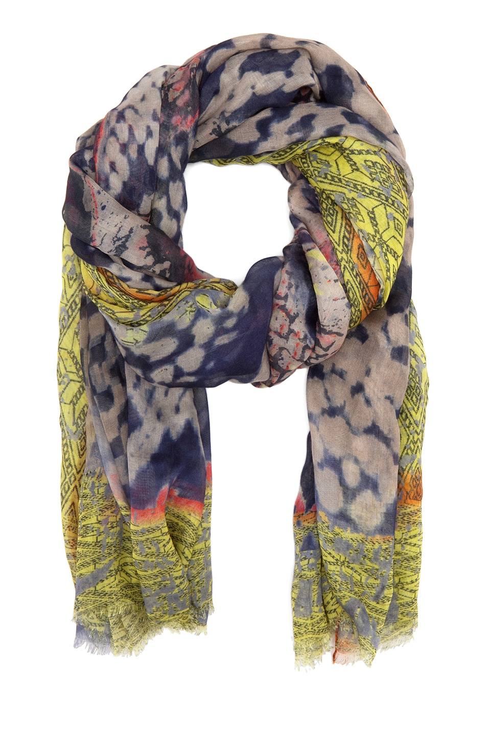 Image 2 of Yigal Azrouel Snake Printed Scarf in Night Multi