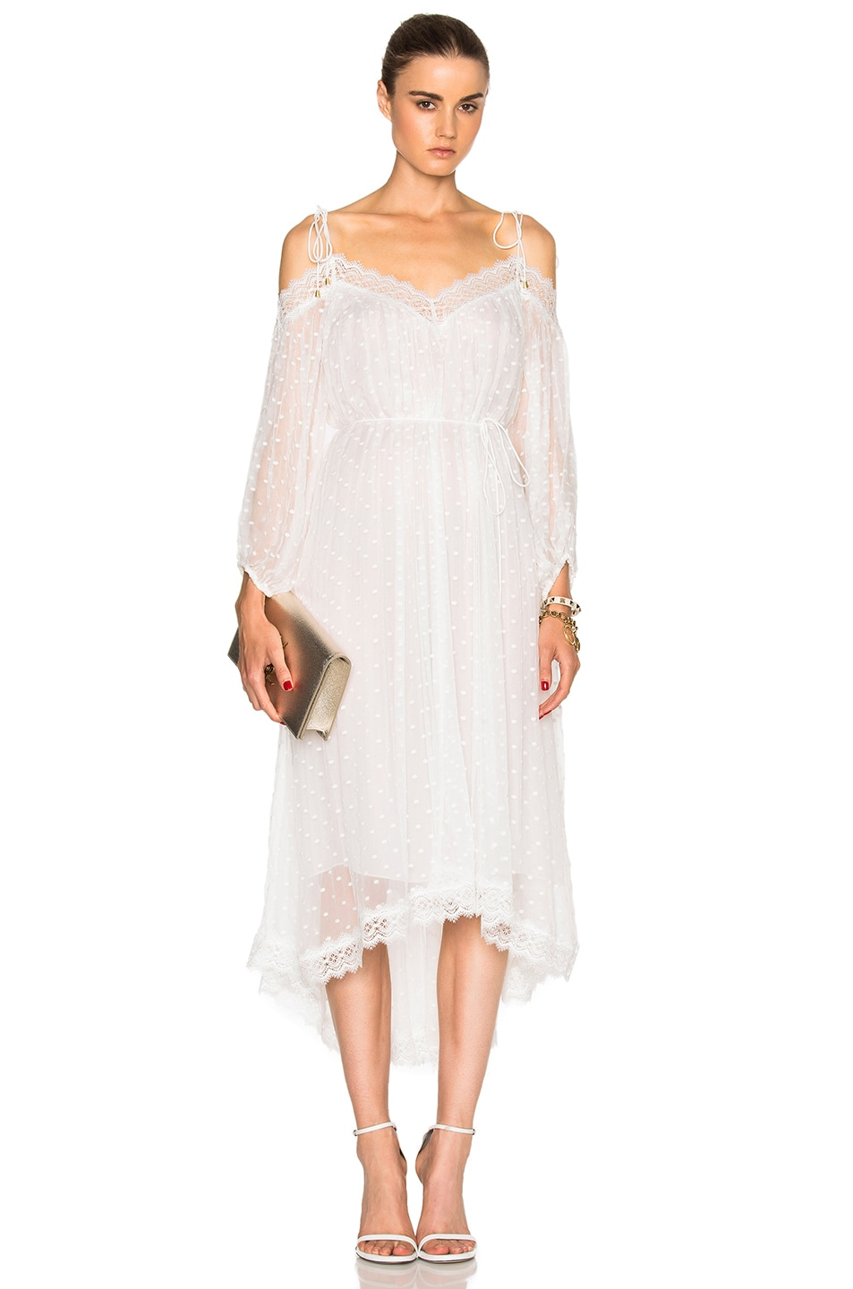 Image 1 of Zimmermann Realm Scallop Dress in White