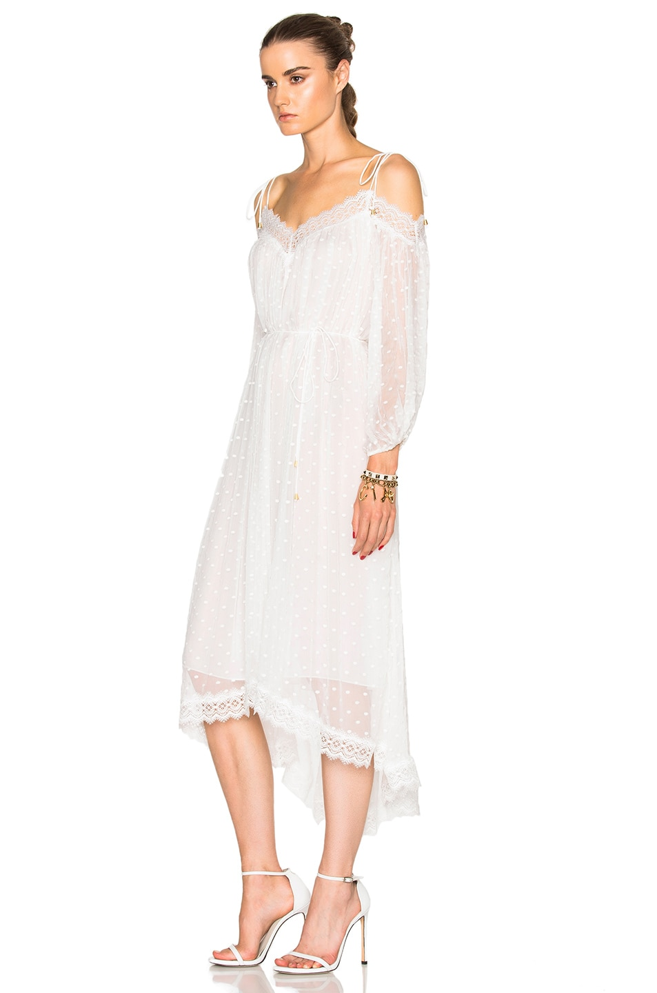 Image 2 of Zimmermann Realm Scallop Dress in White