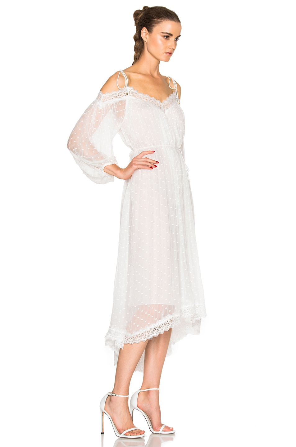 Image 3 of Zimmermann Realm Scallop Dress in White