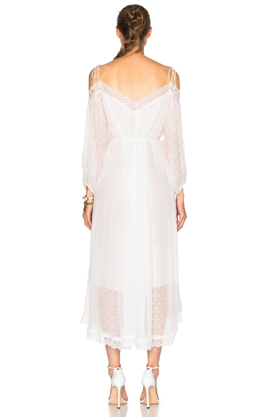 Image 4 of Zimmermann Realm Scallop Dress in White