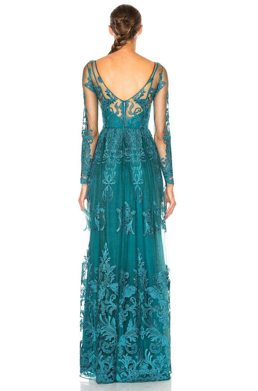 Image 4 of Zuhair Murad Embroidered Tulle Dress in Mediterranea