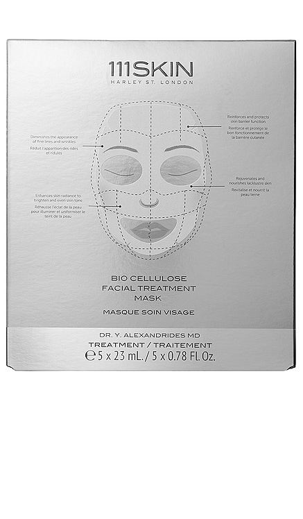 Bio Cellulose Treatment Mask Box 5 Pack 111Skin $135