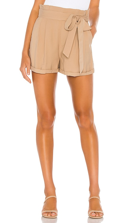 Cuffed Hem Tie Waist Soft Twill Short 1. STATE $79 NEW