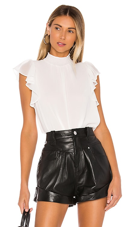 Flutter Sleeve Smock Neck Blouse 1. STATE $59 BEST SELLER