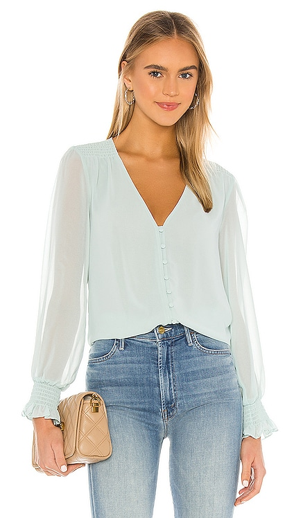Smocked Detail Button Blouse 1. STATE $89 BEST SELLER