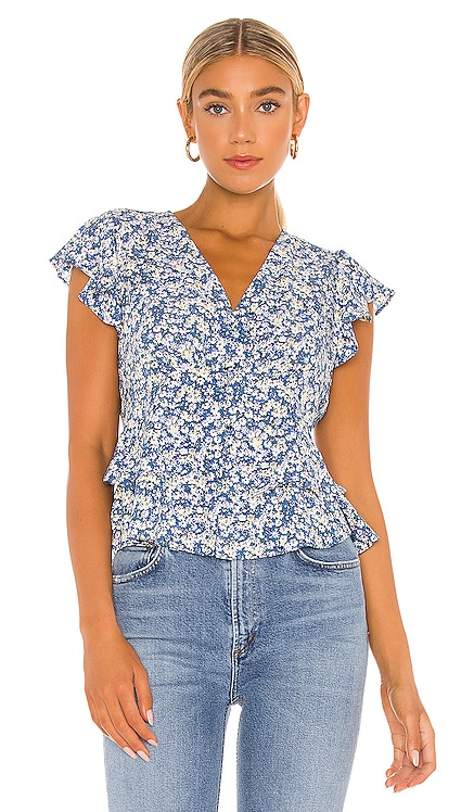 Flutter Sleeve Button Front Blouse 1. STATE $79