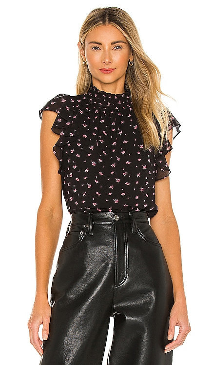 Poetic Rosettes Flutter Sleeve Top 1. STATE $59 NEW