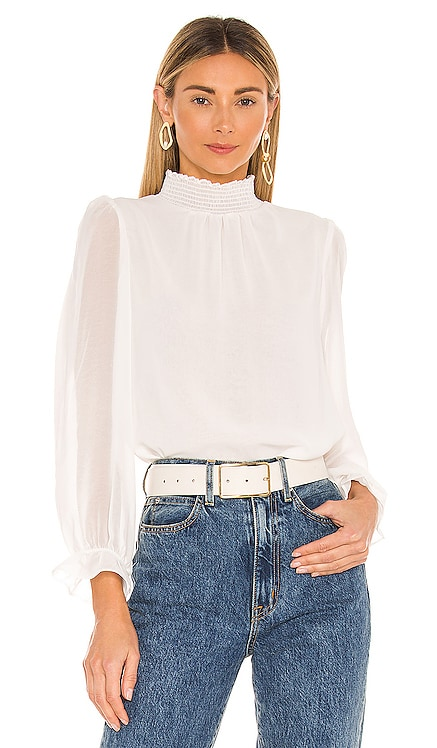 Long Sleeve Smocked Neck Blouse 1. STATE $79 NOUVEAU