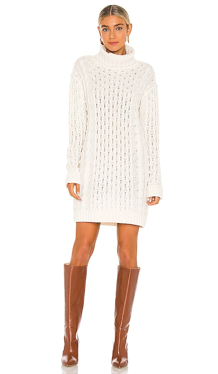 Cable Turtleneck Dress 525 $128
