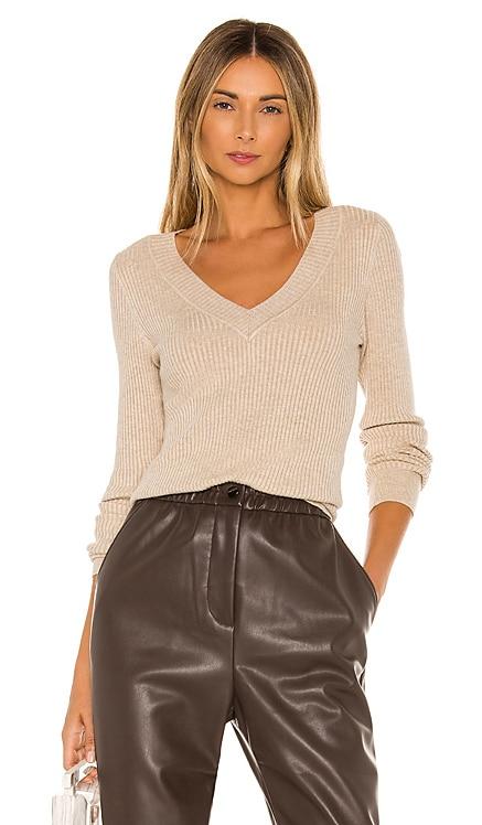 Wide V Neck Pullover Sweater 525 $78
