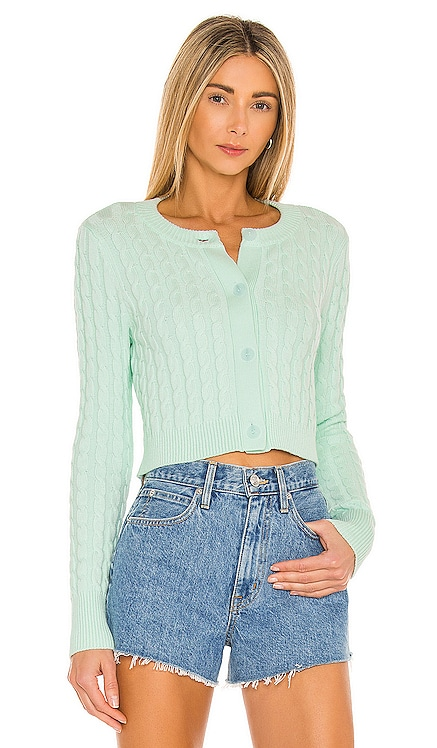 Cropped Cable Cardigan 525 $98