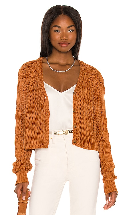 Cardigan with Cable Sleeves 525 $128 NEW