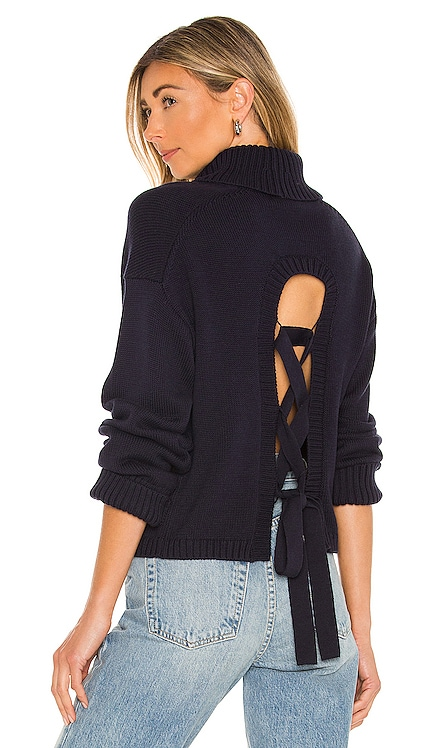 Laced Back Turtleneck Sweater 525 $128 NEW