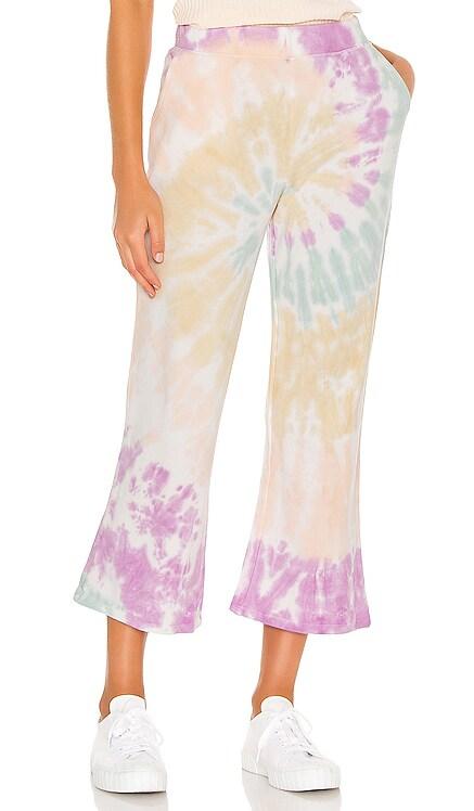 Tie Dye Crop Flare Sweatpant 525 america $98 NEW