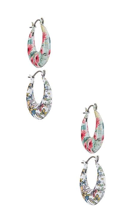 Acrylic Painted Hoop Earrings Set 8 Other Reasons $52