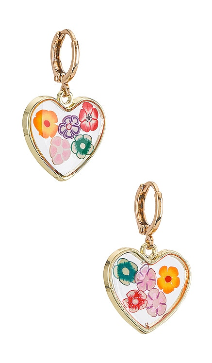 Heart Shaped Earring Resin Flowers 8 Other Reasons $40