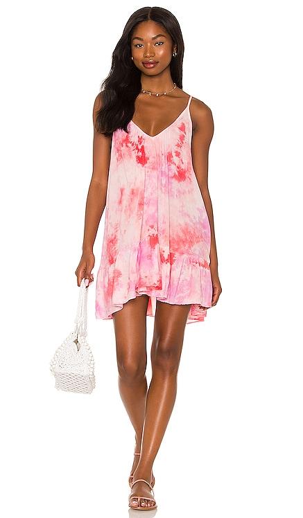 St. Tropez Ruffle Mini Dress 9 Seed $218 NEW