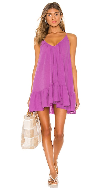 St Tropez Ruffle Mini Dress 9 Seed $130 BEST SELLER