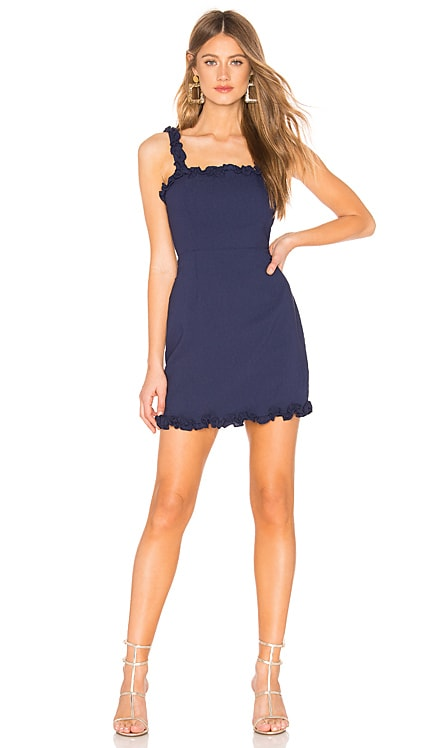 Arabella Ruffle Mini Dress superdown $68 BEST SELLER
