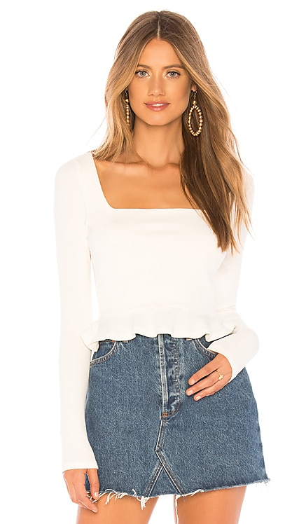 Priscilla Ribbed Top superdown $54 BEST SELLER