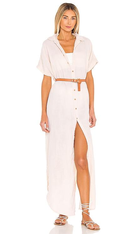 Oahu Cotton Gauze Dress ACACIA $198 NEW