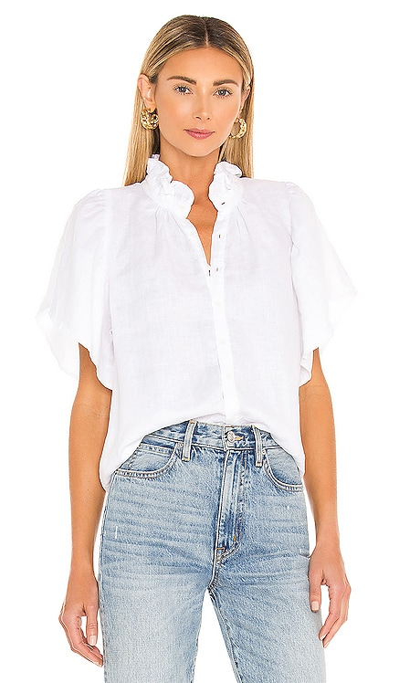 Mimi Linen Top ACACIA $168 NEW