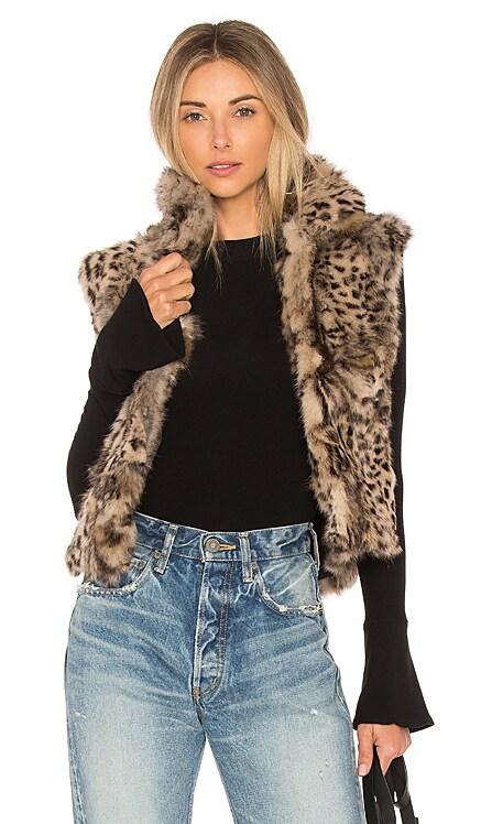 Printed Rabbit Vest Adrienne Landau $295 BEST SELLER