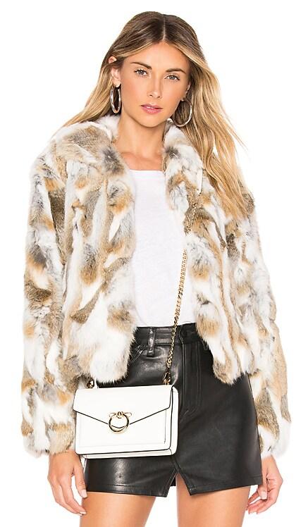 Textured Rabbit Jacket Adrienne Landau $395 BEST SELLER