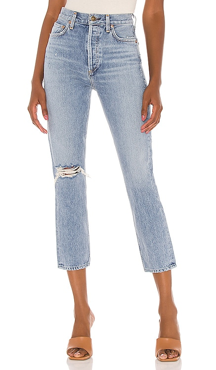 Riley High Rise Straight Crop AGOLDE $198 NEW