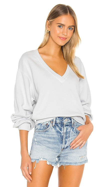 V Neck Balloon Sleeve Sweatshirt AGOLDE $138 BEST SELLER