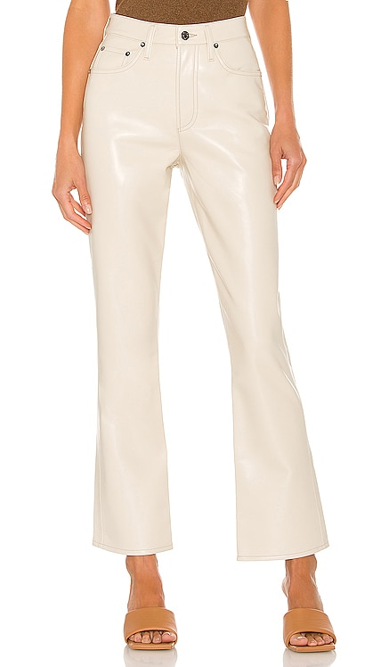Recycled Leather Relaxed Boot Pant AGOLDE $298 Sustainable