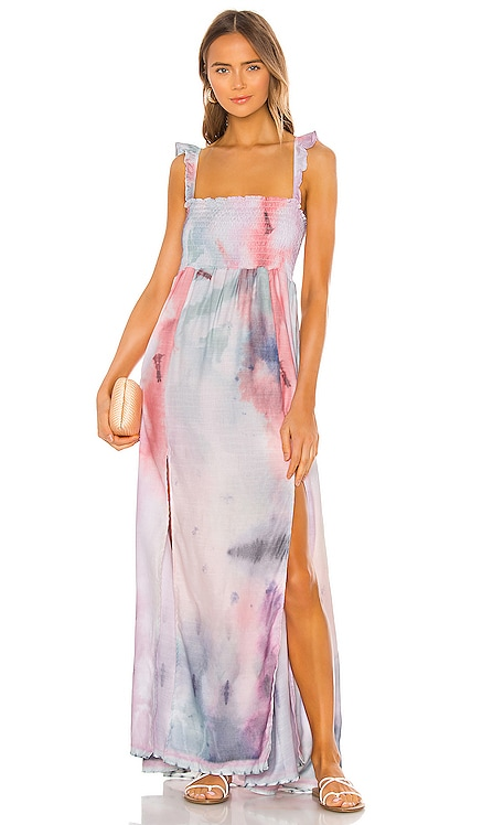 Leandra Dress Agua Bendita $136