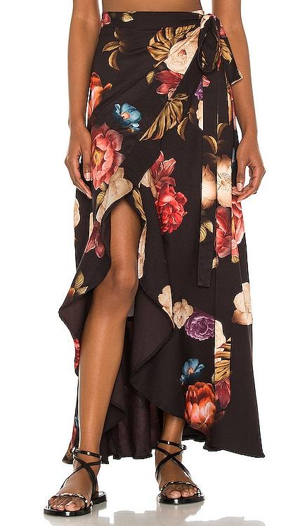 Brasil Shade Wrap Skirt Agua Bendita $150 NEW