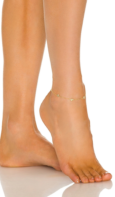 Multi Flower Anklet Adina's Jewels $58 NEW