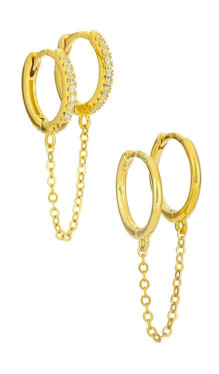 Double Huggie Set Adina's Jewels $88 NEW