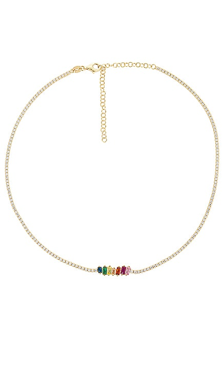 Scattered Baguette Tennis Choker Adina's Jewels $98