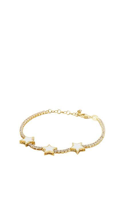 Enamel Triple Star Tennis Bracelet Adina's Jewels $68 NEW
