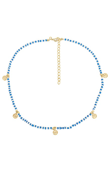 NEON SMILEY FACE 비드 목걸이 Adina's Jewels $50 NEW