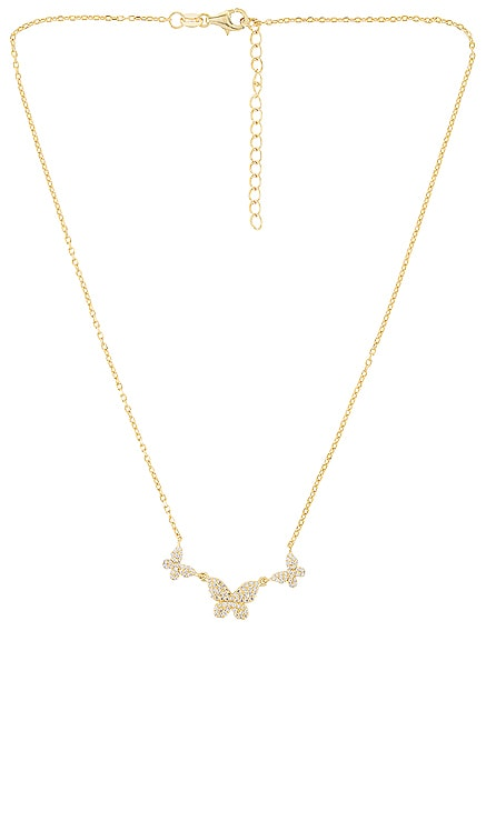 Pave Triple Butterfly Necklace Adina's Jewels $68 BEST SELLER