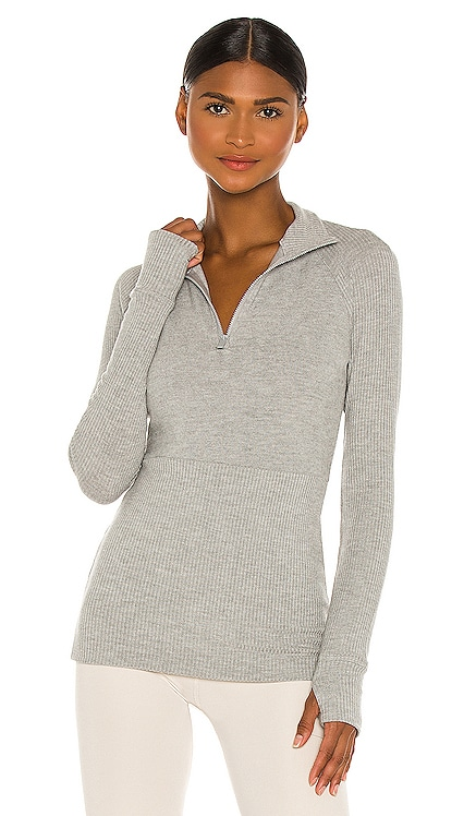 Rise Quarter Zip Sweater ALALA $165 BEST SELLER