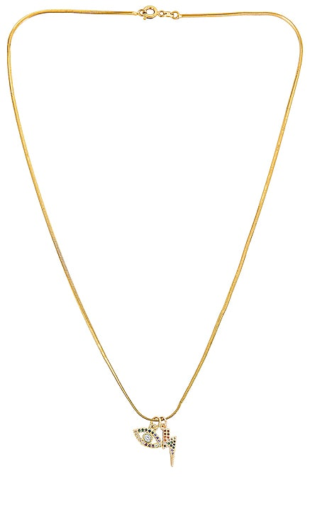 Mini Snake Charm Necklace Alexa Leigh $140 NEW
