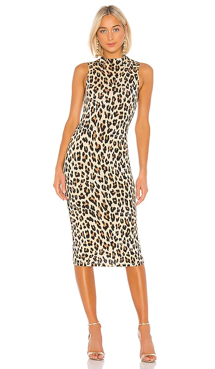 Delora Sleeveless Fitted Mock Neck Dress Alice + Olivia $285 BEST SELLER