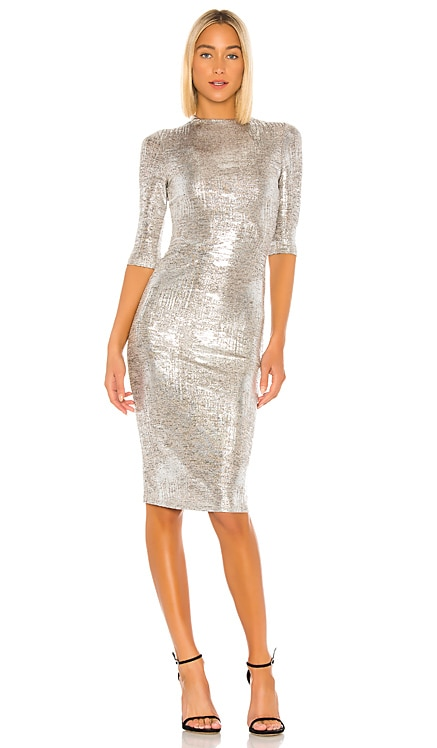 Delora Fitted Mock Neck Dress Alice + Olivia $149